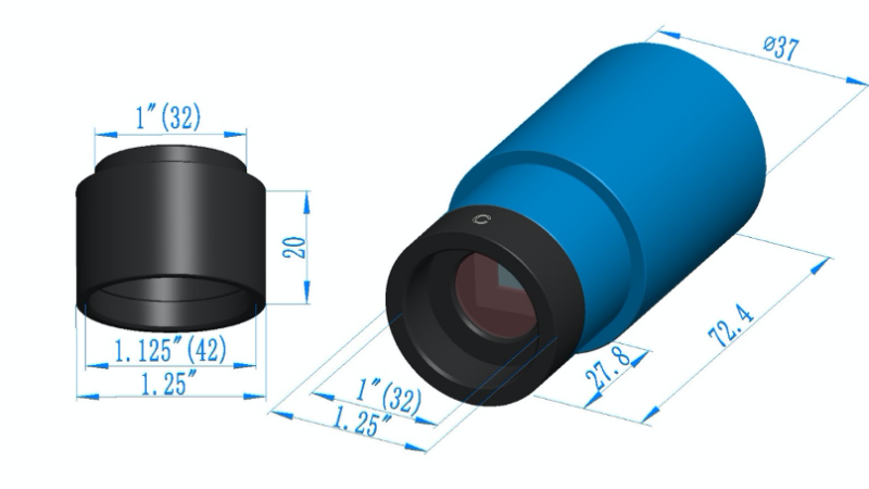 Passively cooled Cameras for up to 16 minute exposures